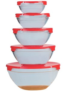 10-Pc Microwavable Bowl Set