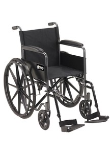 Drive&#174 Silver Sport Foldable Wheelchair