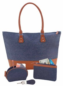 Denim Tote with Free Accessories