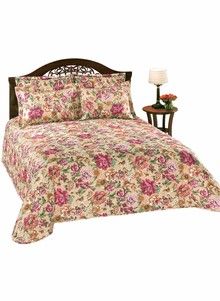 Quilted Floral Bedspread Collection