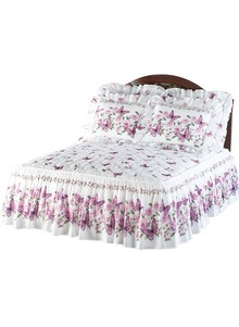 Quilt-Top Ruffled Bedspread Collection