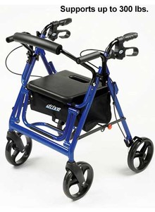 2-in-1 Rollator and Transport Chair