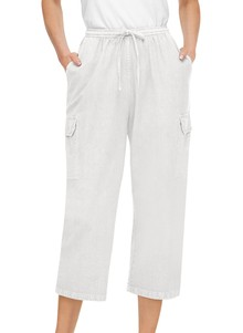 100% Cotton Capri Cargo Pants