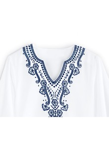 100% Cotton Embroidered Blouse