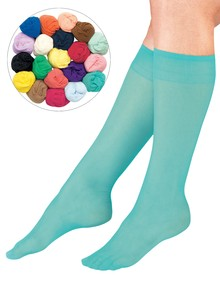 20-Pack Assorted Colored Knee Highs