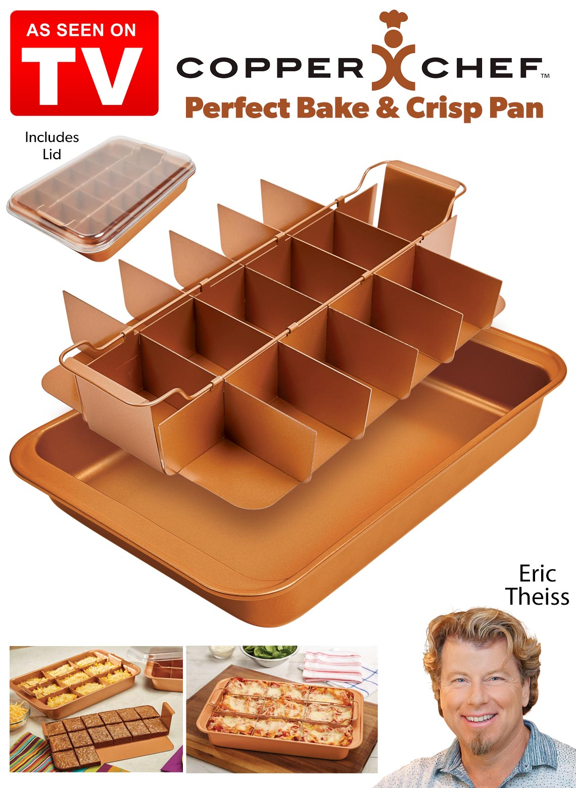 Copper Chef Perfect Bake And Crisp Pan Drleonards Com