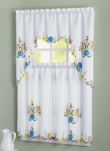 60 x 84 Butterfly Lace Curtains | DrLeonards.com