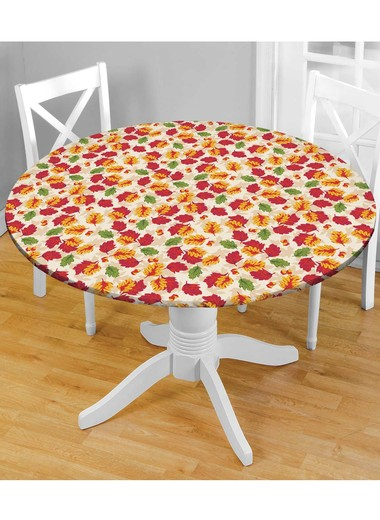 Holiday Fitted Tablecloths   48 Round