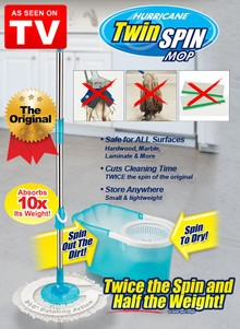 Hurricane Twin Spin Mop - As Seen on TV
