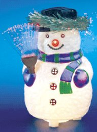 Glowing Fiber Optic Snowman Drleonards Com