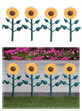 Sunflower Border Fence Set (16 pieces)