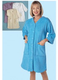 Terry Button Front Robe Drleonards Com