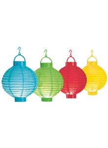 Set of 4 Lighted Paper Lanterns