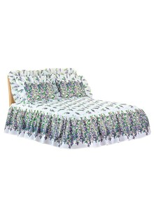 Wisteria Ruffled Quilt-Top Bedspread