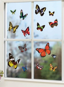 Set of 60 Beautiful Butterfly Clings
