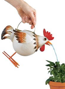 Whimsical Rooster Watering Can