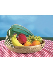 Bamboo Fruit Basket with Protective Cover