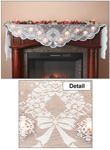 Christmas Mantel Scarf with Lights