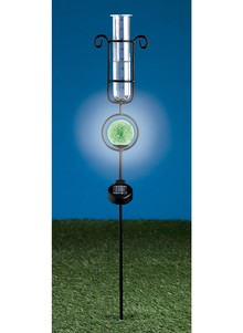 Rain Gauge & Solar Light