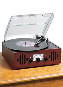 Record Player with Built-In Radio