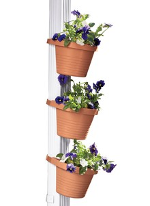 Set of 3 Downspout Plant Pots