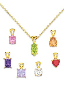 Interchangeable Pendant Necklace Set