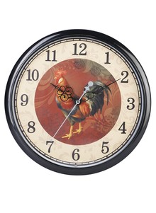 Rooster-Sound Wall Clock