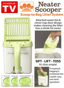 Neater Scooper One-Hand Cat Litter System - As Seen on TV