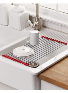 Over Sink Roll Up Drying Mat