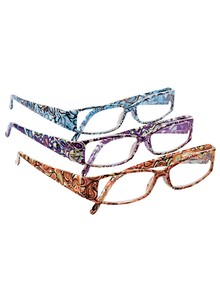 Set of 3 Ladies Paisley Readers