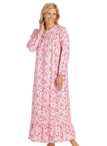 Floral Flannel Gown