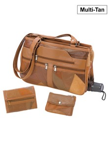 Genuine Leather Handbag Set