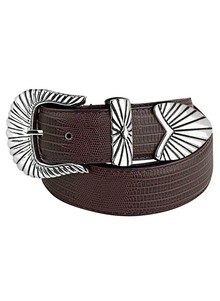Men's Leather Concho Belt