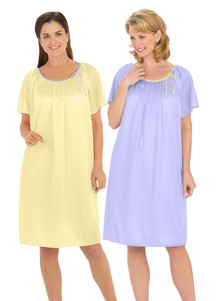2-Pack Silky Tricot Gowns