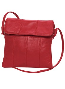 Leather Mini-Handbag with Seaming