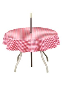 Checkered Umbrella Tablecloth