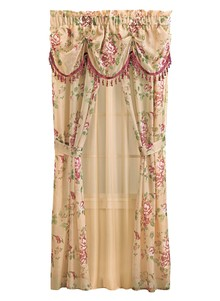 Floral Motif All-in-One Curtain Set