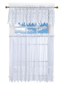 Lace Look Kitchen Curtain Set