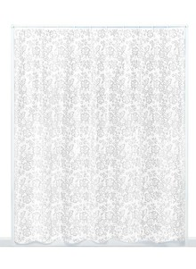Lace Look Shower Curtain w/ Free Rings