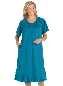 Smocked Neckline Dress