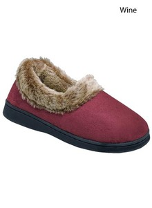 Fleece-Collared Slipper