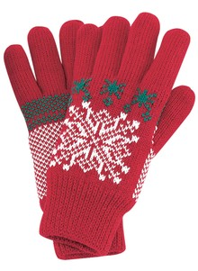 Ladies' Sherpa Snowflake Gloves