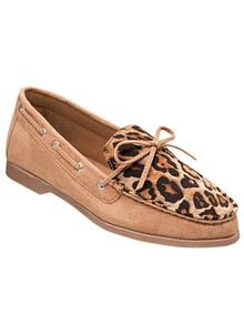 Animal-Print Slip-On