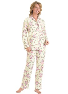 Floral Flannel Pajamas Set