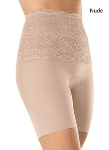 Lace-Embellished Mid-Waist Shaper