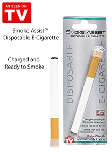 Smoke Assist&#153 Disposable E-Cigarette - As Seen On TV
