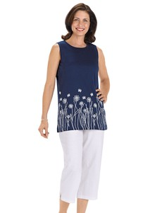 100% Cotton Capri Set
