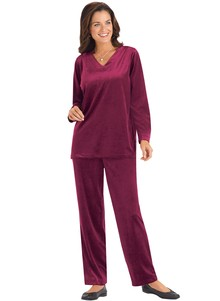 Luxurious Velour Pant Set