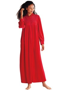 Long Zip-Front Robe