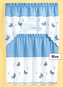 Butterfly Curtain Set